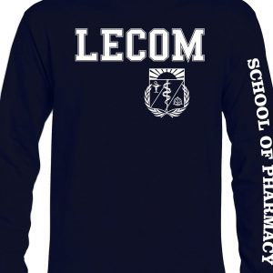 Long Sleeve Lecom Pharmacy Tshirts-NAVY