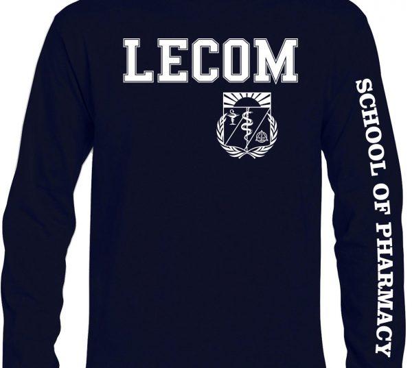Long Sleeve Lecom Pharmacy Tshirts-NAVY