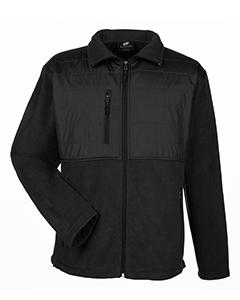 fleece coat-black-8492