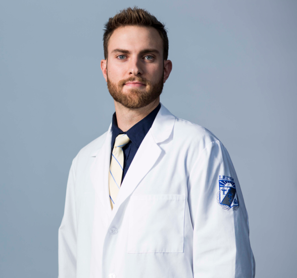 LECOM Men's Medical White Coat with Shield Only