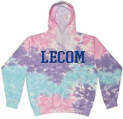multi tie-dye hoodie